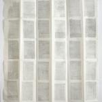 Carte du Temps, maillage, 2017 encre pigmentaire sur papier japon, 97x63cm